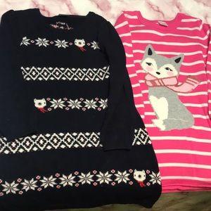 Girls Gymboree sweater dresses